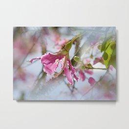 Dreamy Pink Flower Metal Print
