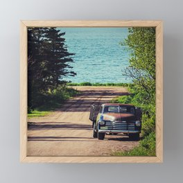 The Farm Truck Framed Mini Art Print