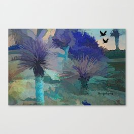 TheDesert blue -By Sherri Of Palm Springs Canvas Print