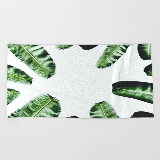 Botanical Banana leaf Beach Towel