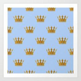 Louis Blue Gold Crown Prince of Cambridge Art Print