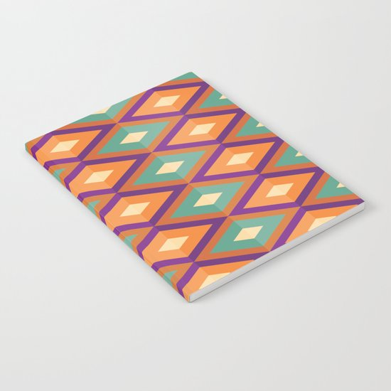 Pattern orange green Notebook