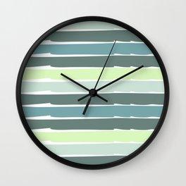 Stripes Design water green Wall Clock