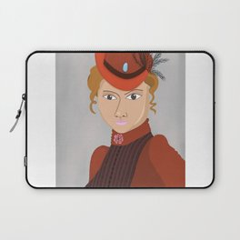 Lady in a Victorian Hat Laptop Sleeve