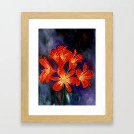 Cheerful clivia Framed Art Print