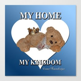My Home, My Kingdom - Blue Canvas Print