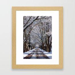 Winter Tunnel Framed Art Print