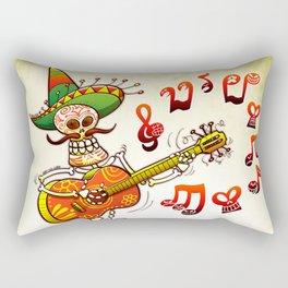 Mexican Skeleton Playing Guitar Rectangular Pillow