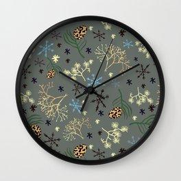 Winterpattern3 Wall Clock