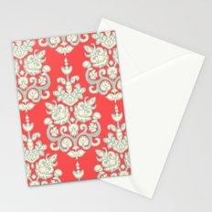 Kaksi damask ikat Stationery Cards
