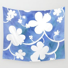 Flowers of snow Wall Tapestry