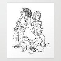 Don't Fight It, Feel It. Art Print
