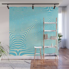 surreal swirl (blue) Wall Mural