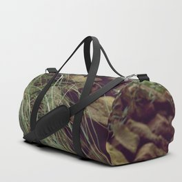 Red rocks in the forest I Duffle Bag