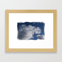 Clouds Over Hill Framed Art Print