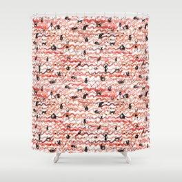 Frisky Cats Pattern Shower Curtain