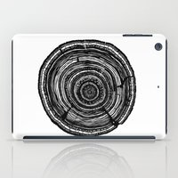 tree rings iPad Cases featuring Tree Rings by Irene Leon