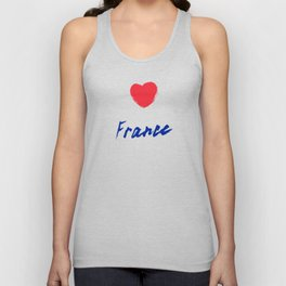 France, hand lettering vector. Modern calligraphy pen and ink Unisex Tank Top