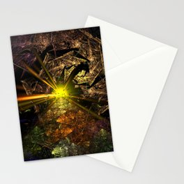 Machu Picchu 3D Fractal Stationery Cards
