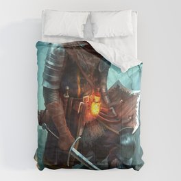 Dark Souls Pixel Bonfire Comforters