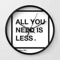 helvetica Wall Clocks featuring helvetica by bertamir