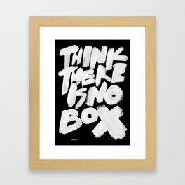 NOBOX Framed Art Print