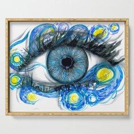 Starry Night Eye Artwork Serving Tray