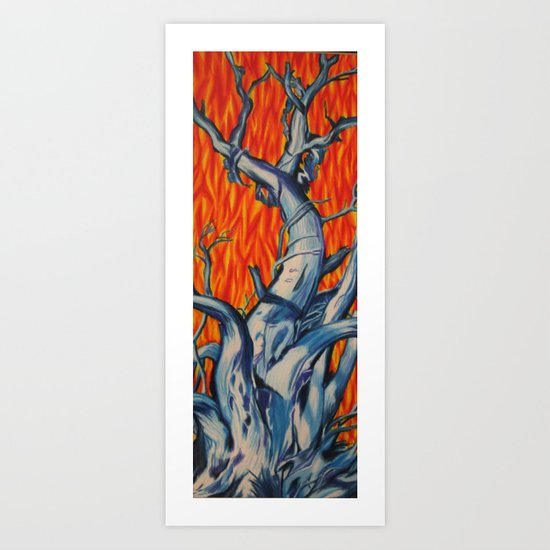 Fire and Ice Tree Art Print