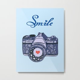 Let Your Smile Change the World.  Metal Print