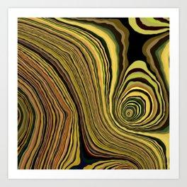 Goldenization Art Print