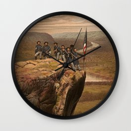 Union soldiers at Point Lookout, Tennessee Wall Clock