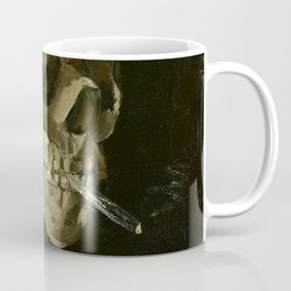 Skull of a Skeleton with Burning Cigarette - Van Gogh Coffee Mug