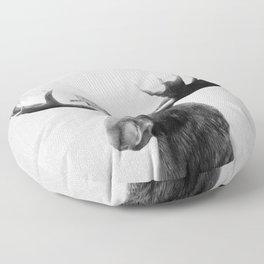 Moose - Black & White Floor Pillow