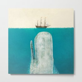 The Whale - option Metal Print