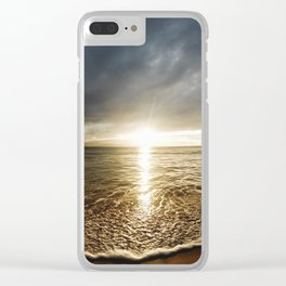 Sunset Over the Ocean Clear iPhone Case