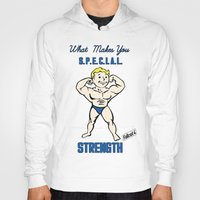 fallout 3 Hoodies featuring Strength S.P.E.C.I.A.L. Fallout 4 by sgrunfo