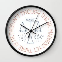 shakespeare Wall Clocks featuring Shakespeare by Tugrul Peker