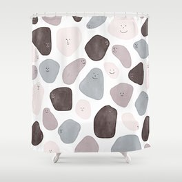 Funny Shapes Shower Curtain