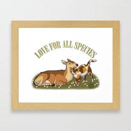 Love For All Species Framed Art Print