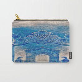 Ancient Church In Aqua Blue Carry-All Pouch