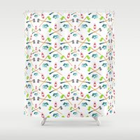camping Shower Curtains featuring Camping by Whimsy Milieu
