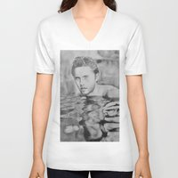 jared leto V-neck T-shirts featuring Jared Leto on water  by Jenn