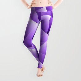 Light overlapping sheets of violet paper triangles. Leggings