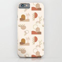 Desert Oasis Pattern iPhone Case