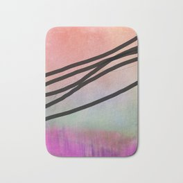 Pink Abstract with Lines - Pastel Bath Mat