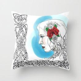 Celtic Rose Throw Pillow