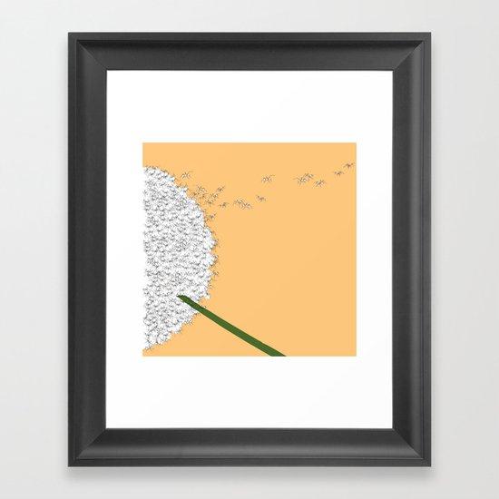 Flying ants Framed Art Print