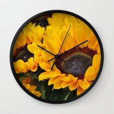 Golden Sunflowers Wall Clock