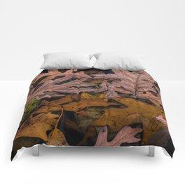 Patterns of Leaves on Wabasis Lake Comforters