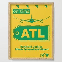 ATL Atlanta airport yellow Serving Tray